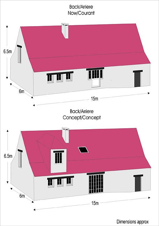 Plan rear elevation